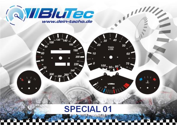 Dials for BMW E30 - SPECIAL EDITION BLACK